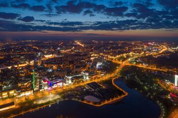 Fototapeta Minsk in the evening