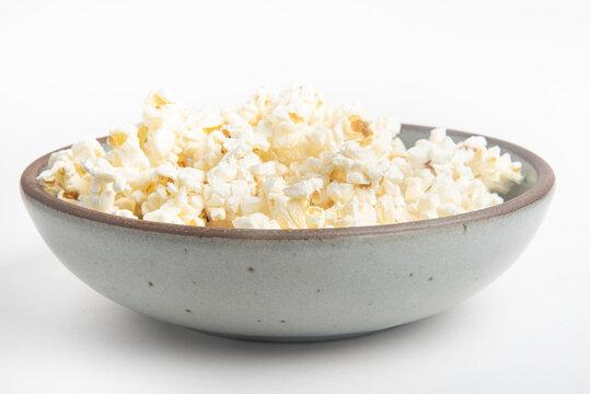 Popcorn In A Ceramic Bowl