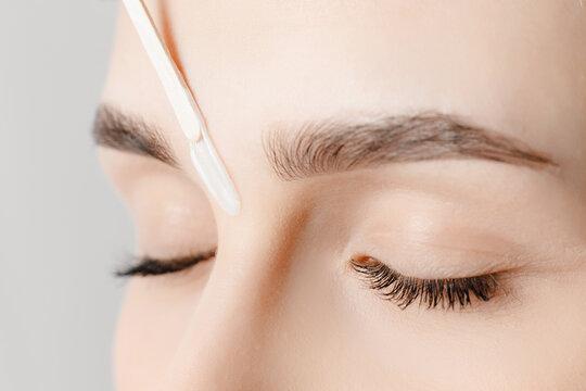 Brow correction master wax depilation of eyebrow hair in women