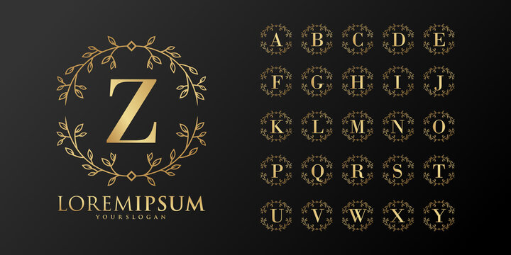 monogram alphabet wedding initial hand drawn