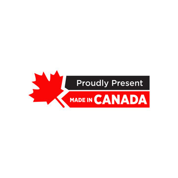 Emblem logo of Made in Canada product design