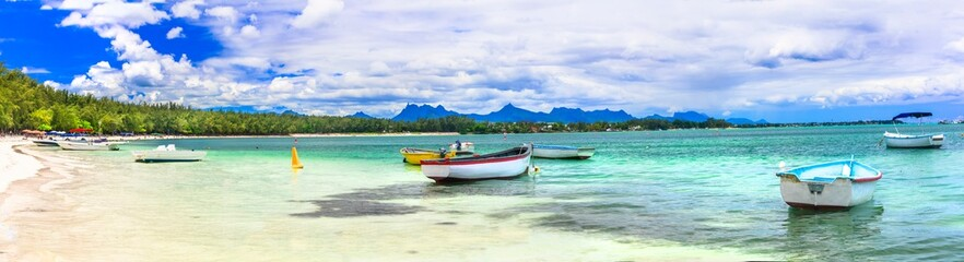 Best beaches of Mauritius island - Mont Choisy in norther part