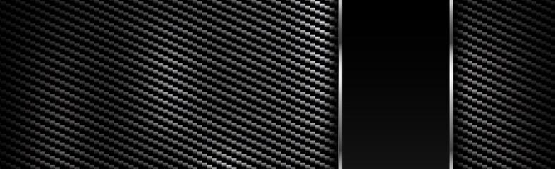 Panoramic texture of black and gray carbon fiber