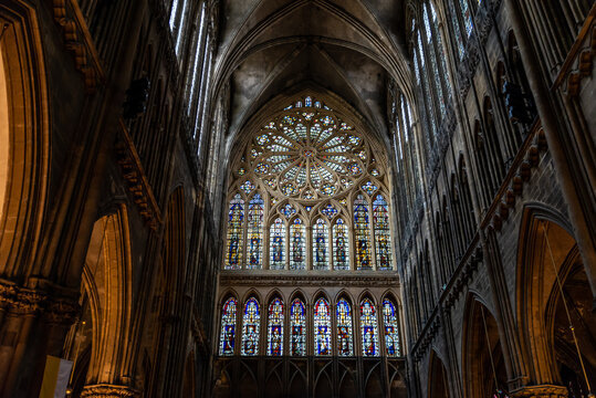 La verrière occidentale de Hermann de Münster de la cathédrale Saint-étienne de Metz
