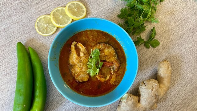 chapala pulusu - fish curry as south indian style - andhra pradesh curry