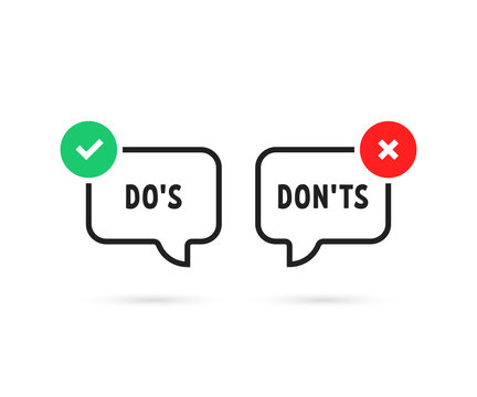 simple do's and don'ts bubble like true or false