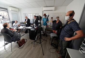 Cinema following the coronavirus disease (COVID-19) outbreak in Mandelieu