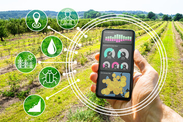 Papiers peints Kiev Smart Farming Digital Technology Agriculture App