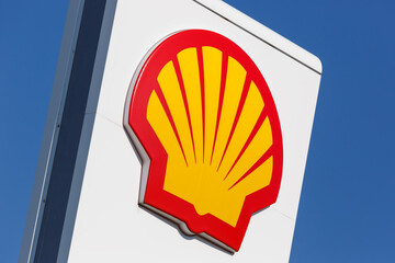 Shell gas petrol station logo sign company service