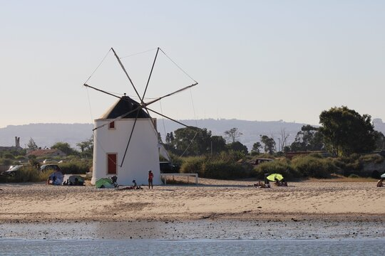 windmill in the beach