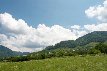 Canvas Prints Hill Hiking trail leading from Haghpat Monastery to Sanahin Monastery. a famous landscape in Akner village, Alaverdi, Lori, Armenia.