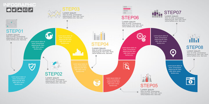 Timeline infographics design template with options, process diagram, vector eps10 illustration