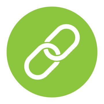 Chainlink icon vector flat design.