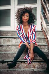 Beautiful Fashion Girl at Urban Location