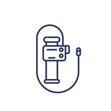 endoscope, endoscopy, colonoscopy tool line icon