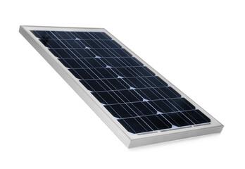 Obraz Solar panel isolated on white. Alternative energy source - fototapety do salonu
