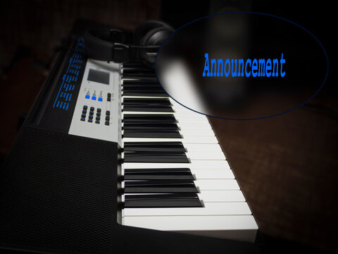 Background for text with black and white piano keys