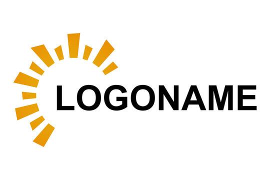 Sun logo design template. Orange sun logo for your company. Vector Illustrator
