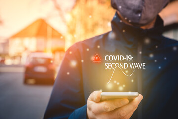 Notification about second wave of covid-19 on smart phone