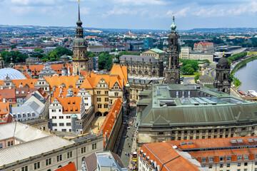 Panorama of city Dresden