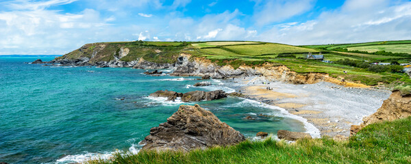 Beach at Dollar Cove Gunwalloe Cornwall England UK