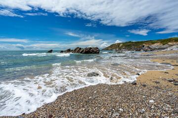 Fototapete - Beach at Dollar Cove Gunwalloe Cornwall England UK