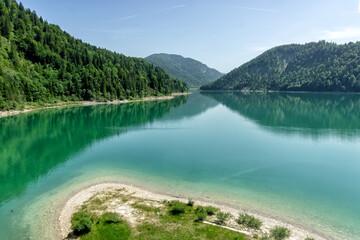 Lake Sylvenstein Speicher in Bavaria