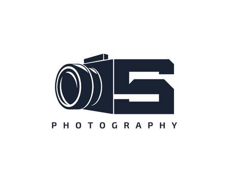 Initial Letter S Camera photography filmmaker logo design