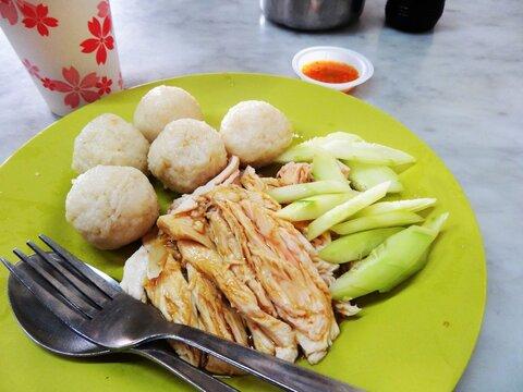 マラッカ名物、チキンライスボール/The best Hainanese chicken rice in Melaka, Malaysia