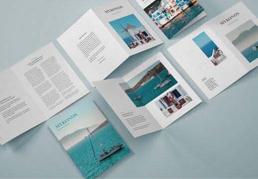 Vertical Bifold Brochure Mockup
