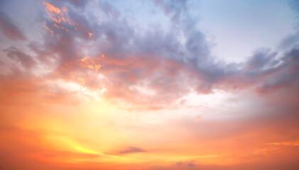 Door stickers Sunset orange color dramatic sunset and sunrise sky.