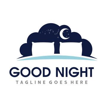 Bed Logo. Sleep Logo Vector