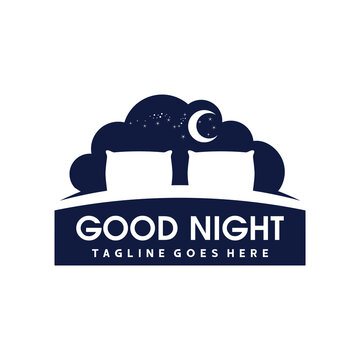 Bed Logo. Sleep Logo Vector