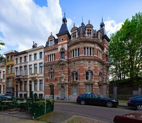 Wall Mural - street scene in Zurenborg district, Antwerpen, Belgium.