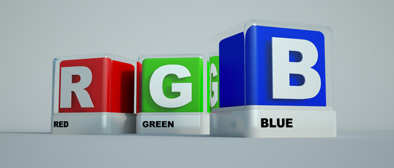 Basic print colors Red green and blue