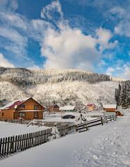 Village Sinevirskaya Polyana Transcarpathian region Ukraine.