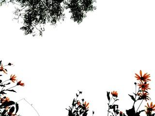 Foto auf Acrylglas Schmetterlinge im Grunge grunge floral background