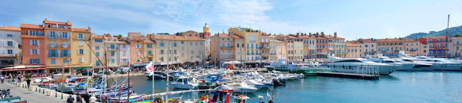 Hafen in der Bucht von Saint-Tropez, Panorama