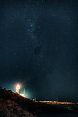 Photo sur Plexiglas Amérique du Sud Illuminated Star Field Against Sky At Night