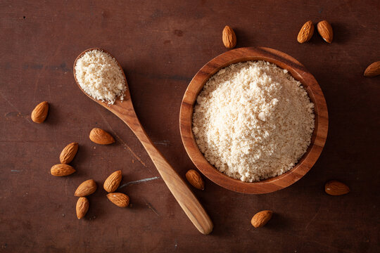 almond flour. healthy ingredient for keto paleo gluten-free diet