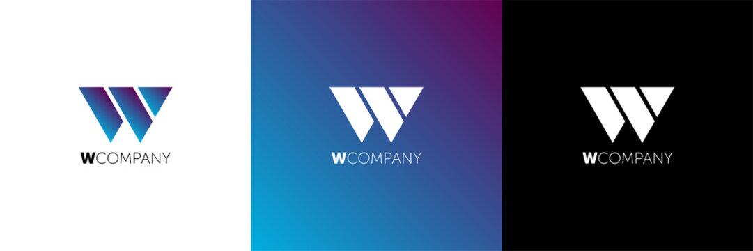 Letter W Abstract Logo Symbol. logo w