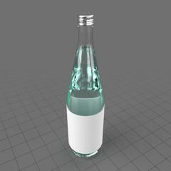 Mineral water in glass bottle
