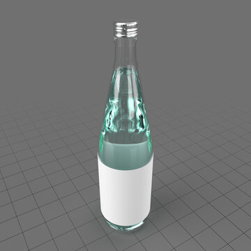 Mineral water in glass bottle