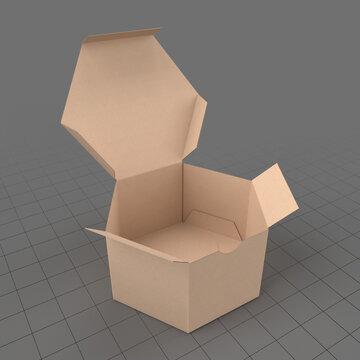 Open hexagonal paper box 2
