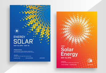 Solar Energy Poster Layout