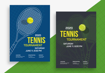Tennis Poster Layout