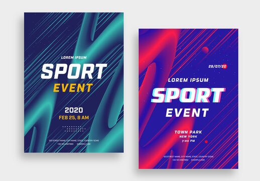 Sports Event Flyer Layouts