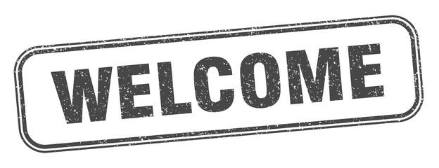 welcome stamp. welcome square grunge sign. label