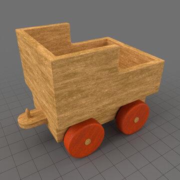 Wooden toy train coal car