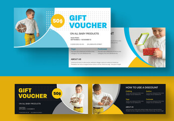 Gift Voucher Layout with Circular Elements